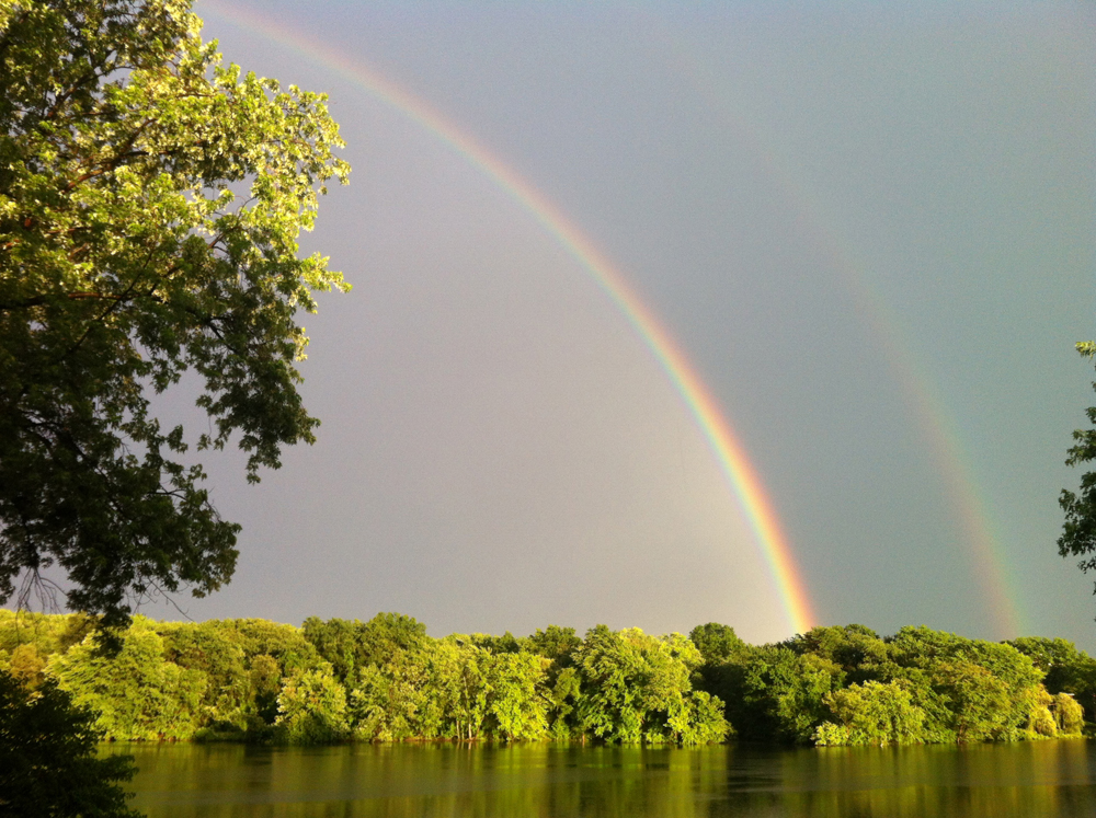 Double rainbow over Little River/ Idith Haber
