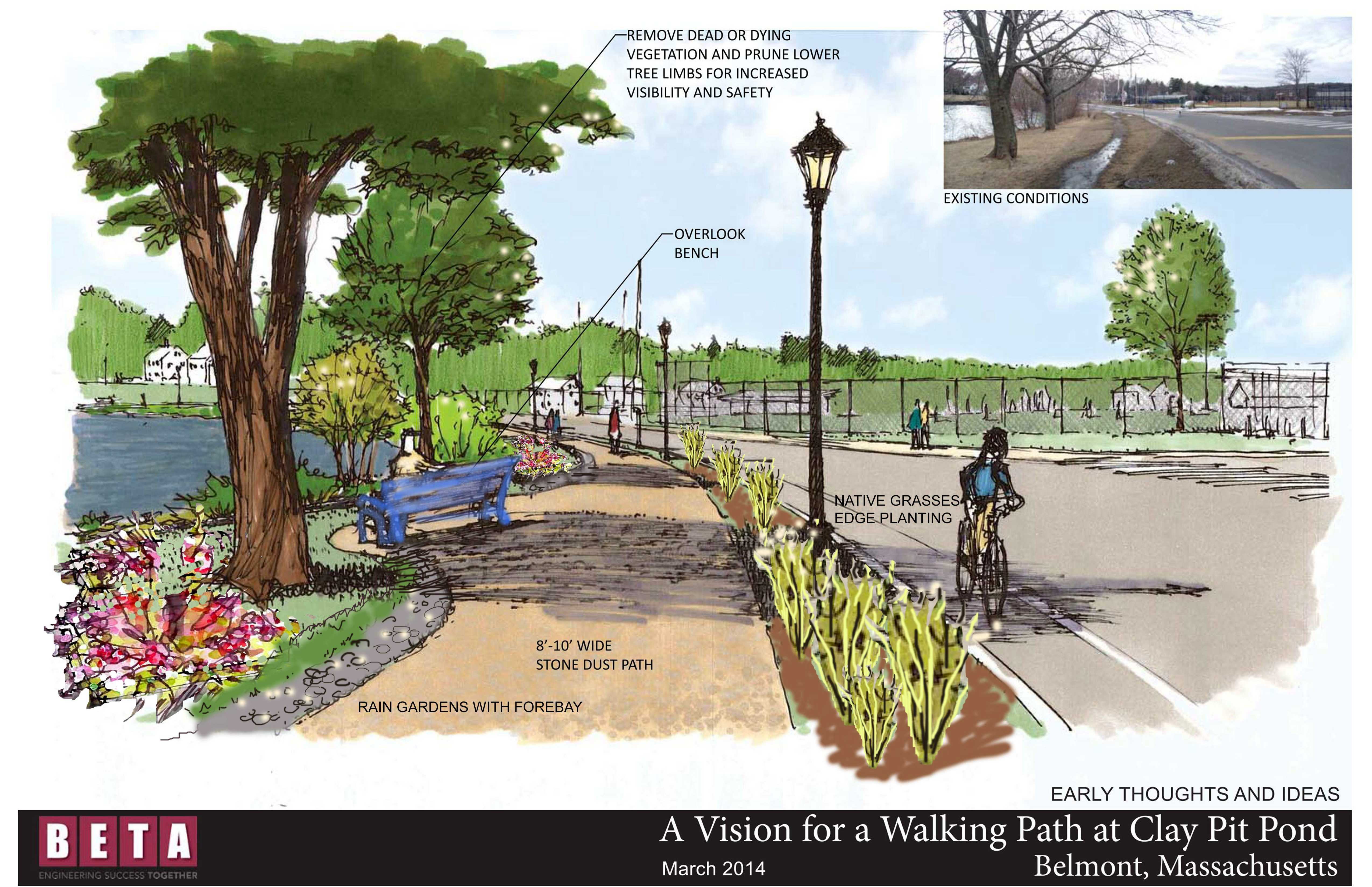 clay pit pond walking path gets funded – belmont citizens forum